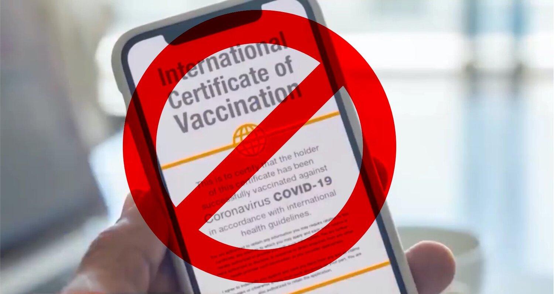 Stop Vaccine Passports.
